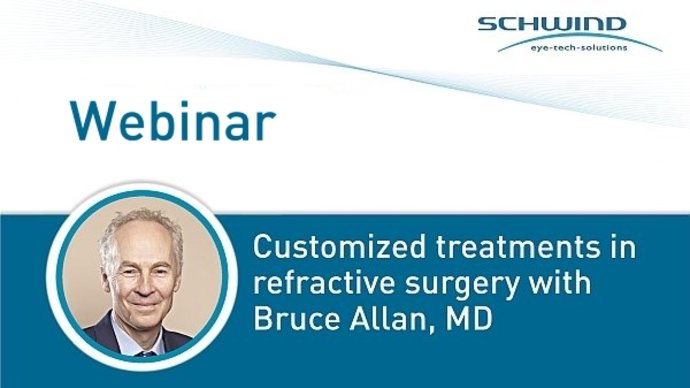 Schwind webinar about customized treatments in refractive surgery