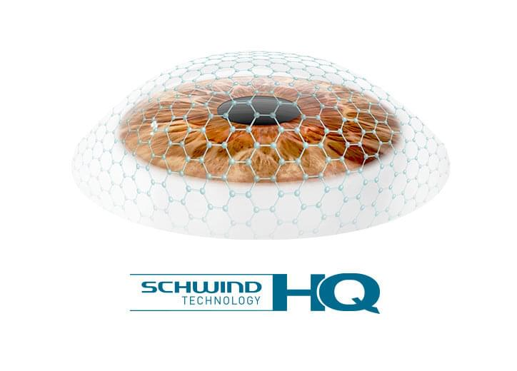 Illustrative lense with logo of SCHWIND High Quality
