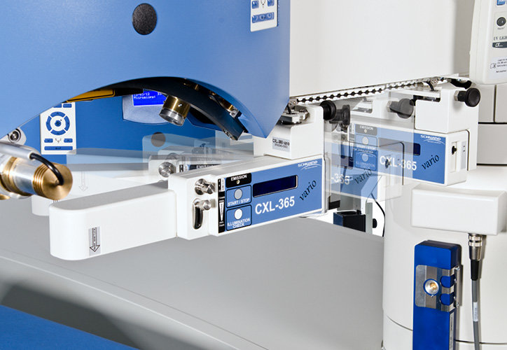 Swivelling function of the extension CXL-365 on the Amaris laser systems